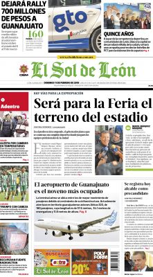 Edición digital El Sol de León – domingo 11 | febrero | 2018