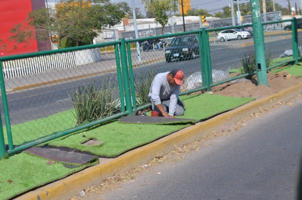 Se queda el pasto sintético en Francisco Villa