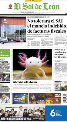 Edición digital El Sol de León – domingo 04 | marzo | 2018