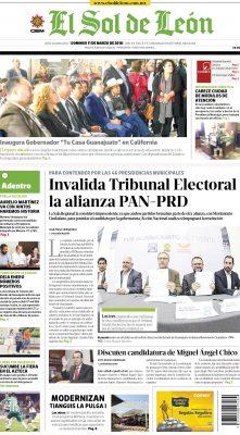 Edición digital El Sol de León – domingo 11 | marzo | 2018