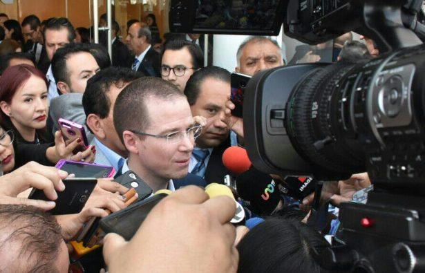"""Reitera Ricardo Anaya que """"la PGR se ha vuelto la oficina de guerra sucia del PRI"""""""