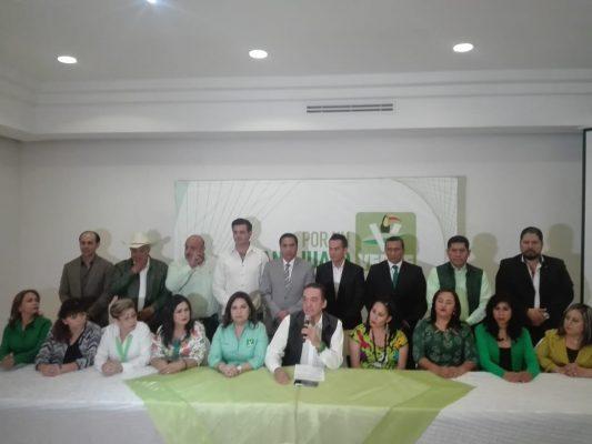 PVEM presenta candidatos a diputaciones