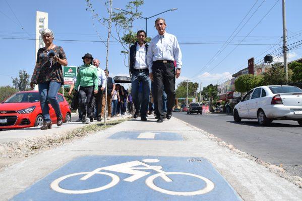 Abren ciclovía en Antonio Madrazo y Plaza Lucero