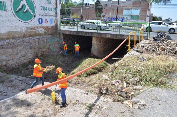 Limpian arroyos para evitar inundaciones