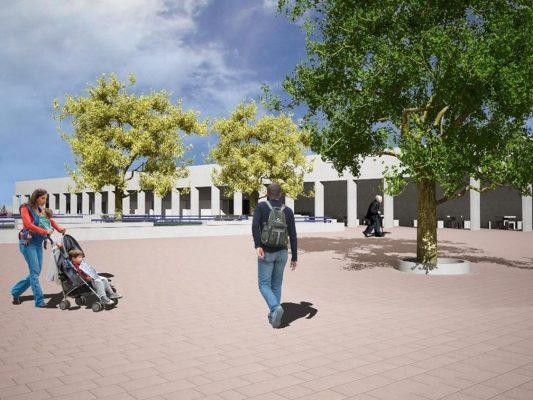 Restaura Secretaría de Obra Pública, Plaza del Músico
