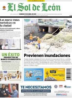 Edición digital El Sol de León – domingo 15 | abril | 2018