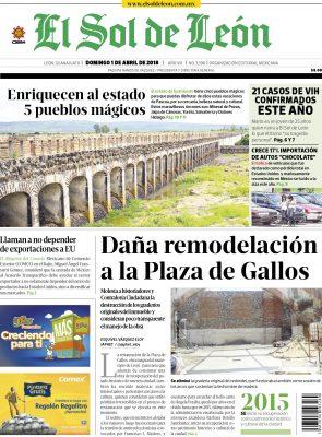 Edición digital El Sol de León – domingo 01 | abril | 2018
