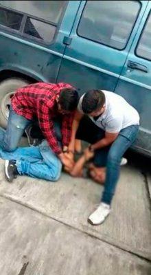 Ciudadanos detienen a ladrón
