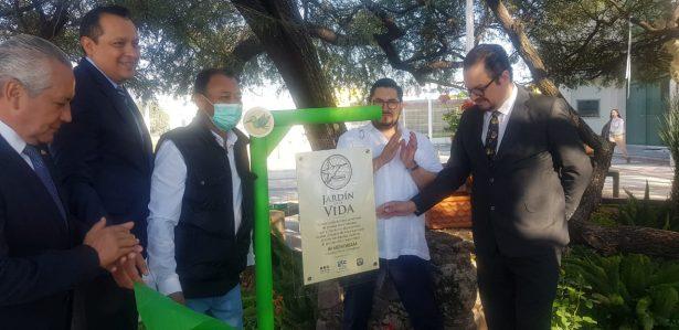 Jardín en honor de personas que decidieron brindar una esperanza de vida