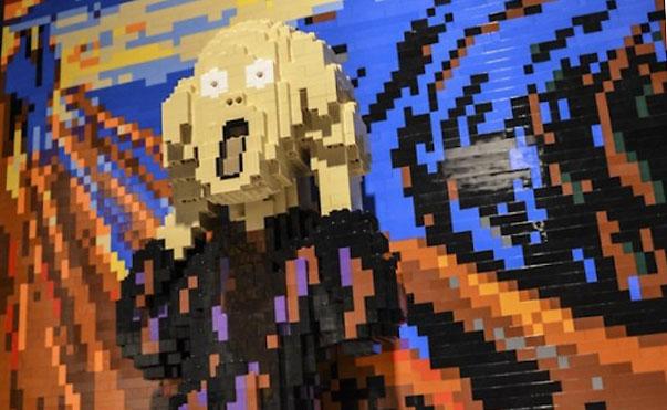 Reproducen las obras de arte más famosas en Lego
