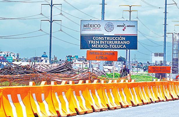 Cerrarán la federal México-Toluca por obras del Tren