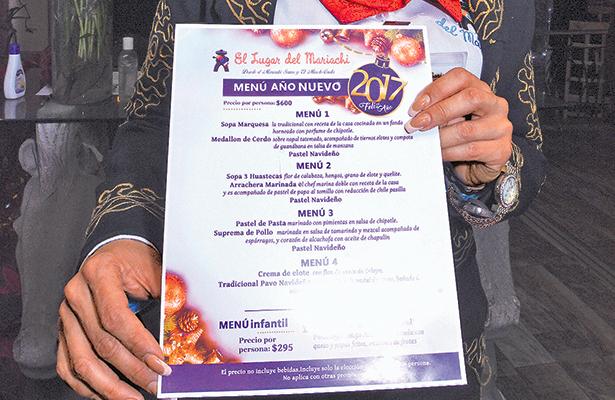 Cenas de lujo de Año Nuevo; desde 4 mil a 16 mil pesos por familia