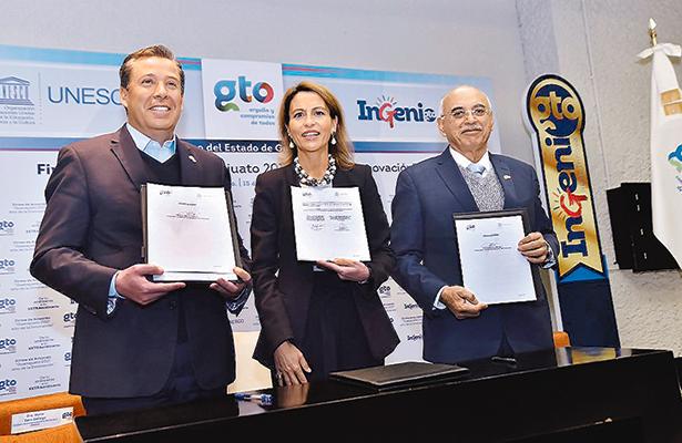 Guanajuato suscribe convenio de innovación