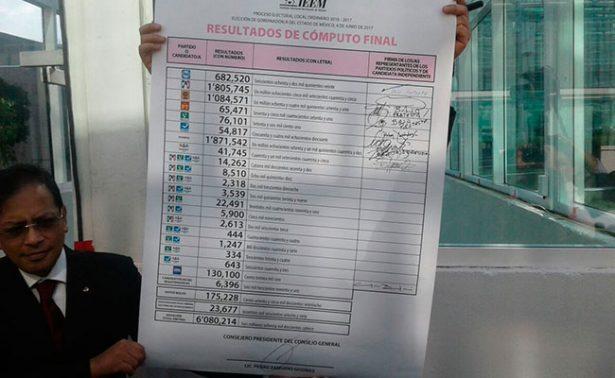 Alfredo del Mazo es oficialmente gobernador electo del Edomex