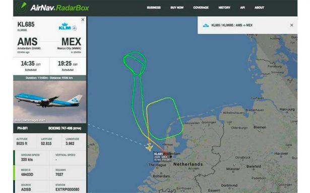 Declaran emergencia en vuelo México-Ámsterdam tras falla en motor