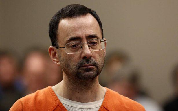 Exmédico olímpico Larry Nassar, recibe 60 años de cárcel por abuso sexual