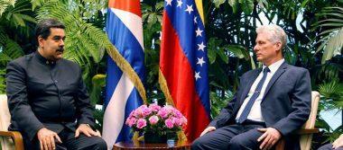 Díaz-Canel recibe a Nicolás Maduro en el Palacio de la Revolución en Cuba