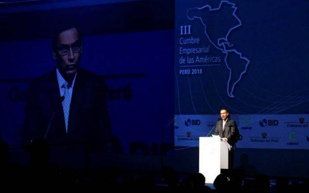 Inicia la VIII Cumbre Empresarial de las Américas en Lima