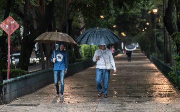 Alerta Amarilla en nueve delegaciones por lluvia, granizo y viento
