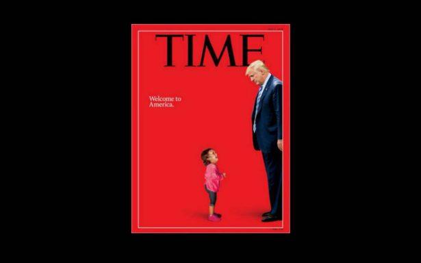 Trump se enfrenta con una niña migrante en nueva portada del Time