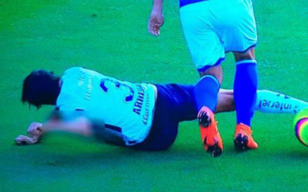 [Video] Alejandro Arribas sufre una escalofriante lesión en el Azul