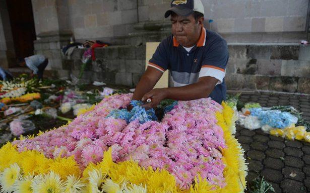 Festejan con flores a San Miguel, en Chapa de Mota