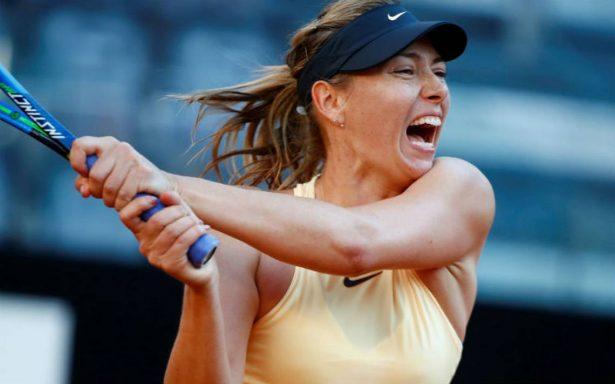 Sharapova se entrena por primera vez en las pistas del Roland Garros