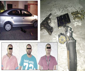 Iban en UBER con Armas de Fuego, fueron Detenidos