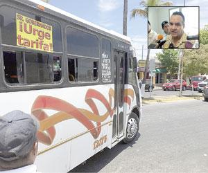 Urge la aprobación al aumento de la Tarifa del Transporte Público