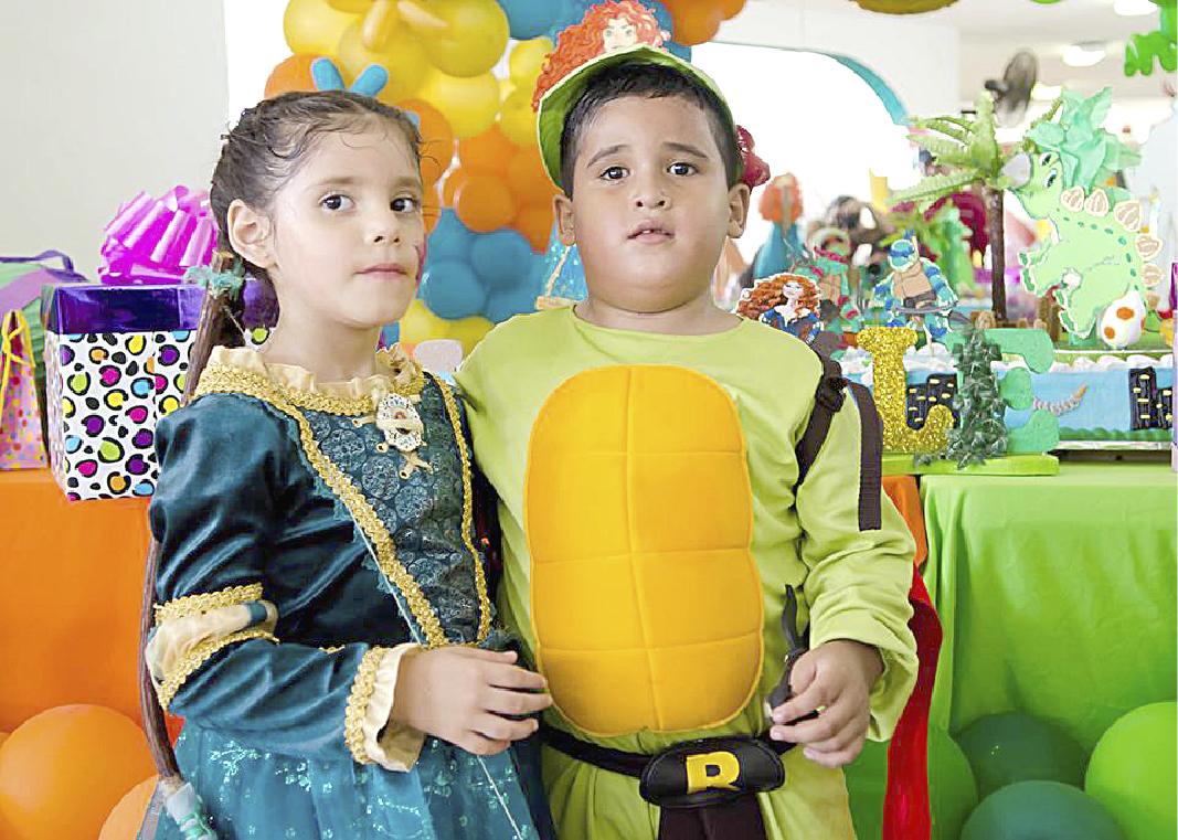 Tienen divertida fiesta Michelle Valentina Díaz e Iker Sebastián Kolbeck