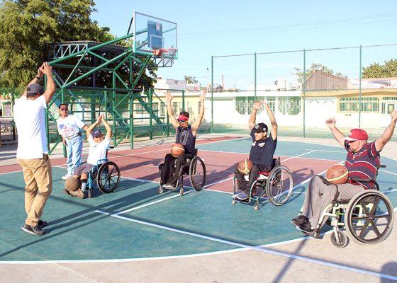 Vuelven las prácticas de Baloncesto en sillas de ruedas