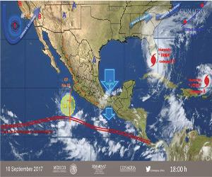 Se desarrolla zona de inestabilidad en el Pacífico