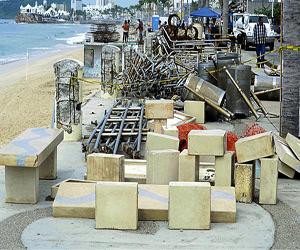 Reutilizarán material retirado del Malecón