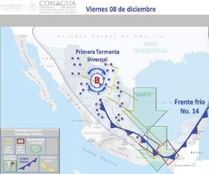 Descenderá temperatura en Mazatlán por primera Tormenta Invernal