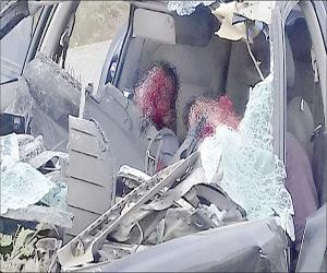 Dos lesionados en choque y posterior volcadura
