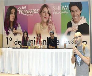 Previo a su Presentación,Ofrecen Rueda de Prensa Los Polinesios