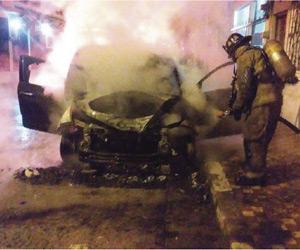 Se Incendia Automovil
