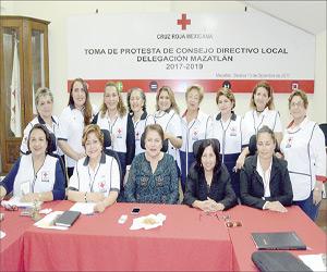 Trabajan Damas de la Cruz Roja en colecta