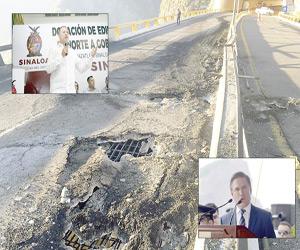 Supervisarán gobernadores de Durango y Sinaloa reparación del puente El Carrizal
