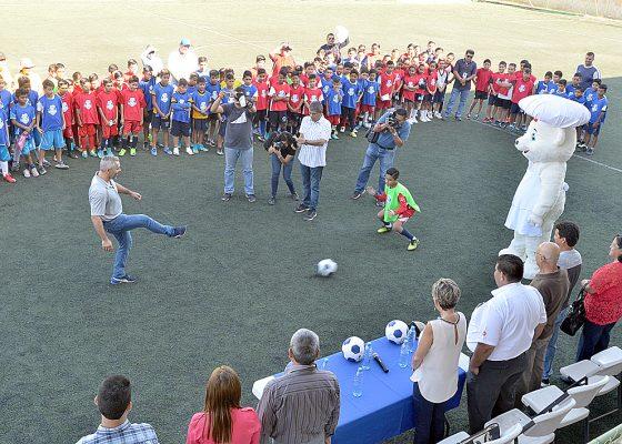 Rueda el balón en el Futbolito Bimbo