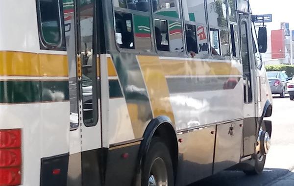 Detectan chófer de camión urbano bajo efecto de metanfetamina