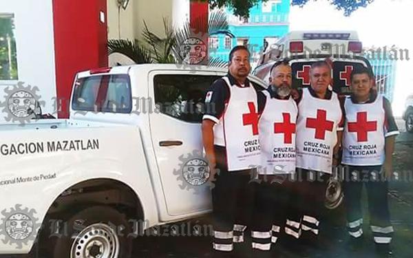 Cruz Roja Mazatlán manda equipo a evaluar desastre en Culiacán
