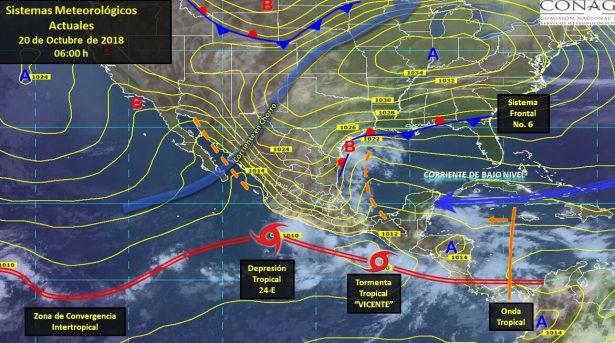 En alerta por tormenta Willa