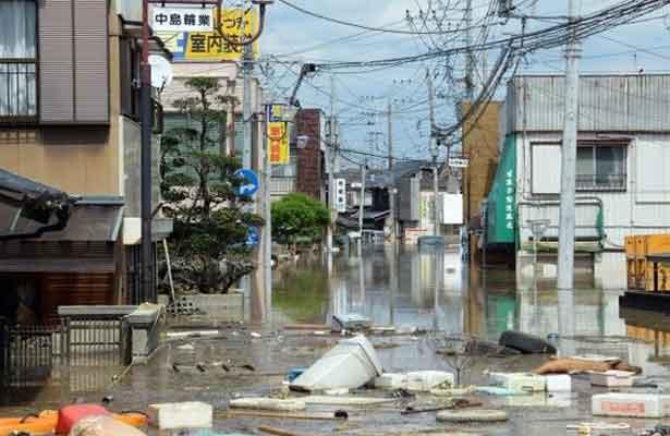 Las áreas más castigadas han sido las prefecturas de Ibaraki (este) y Miyagi (noreste), donde se registraron niveles récord de precipitaciones que dieron lugar al desbordamiento de dos ríos. Foto: Xinhua