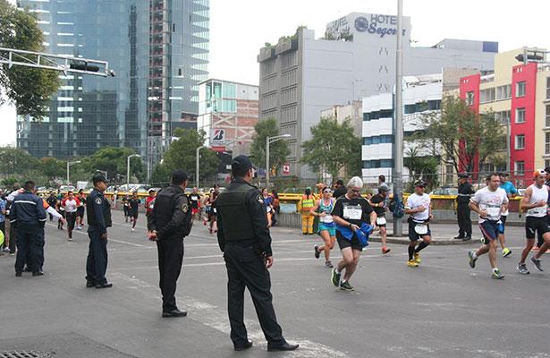 Reporta SSP-DF saldo blanco durante XXXIII Maratón de la CDMX 42K