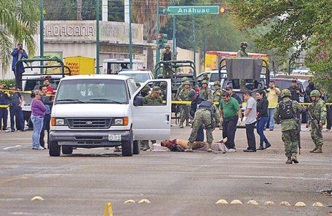 Días violentos en las calles de Tamaulipas. FOTO: AFP.