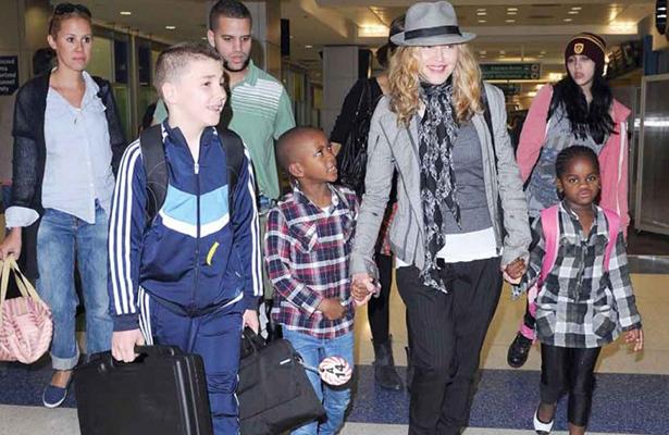 Madonna tiene cuatro hijos, dos biológicos y dos adoptados. Foto: Agencias