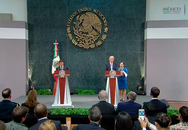 El 31 de agosto pasado, Peña Nieto recibió a Trump en Los Pinos. Foto: PresidenciaMX