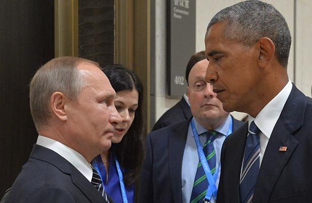Putin y Obama durante el G20, en septiembre pasado. Foto: Agencias