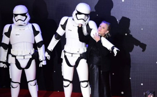 "Carrie Fisher, ""la princesa Leia Organa"". Foto: AFP"